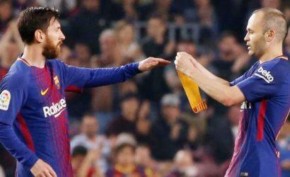 Iniesta se despide con un once sin Messi