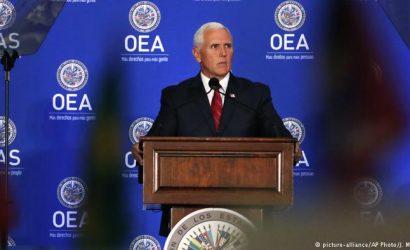 """Pence pide expulsar a Venezuela de la OEA para devolver """"libertad"""" al país"""