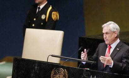 Piñera condenó crisis venezolana durante su discurso en la ONU