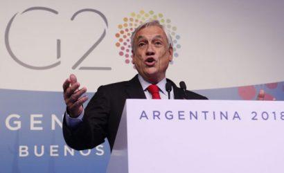 """Piñera destaca avances en """"diálogo y acuerdos"""" en G20: """"Hubo una actitud de pasar de las palabras a la acción"""""""