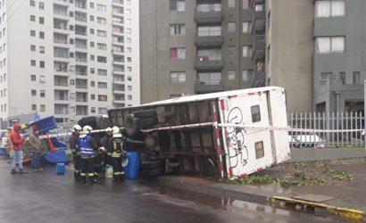 Tromba causa destrucción en Concepción y Talcahuano