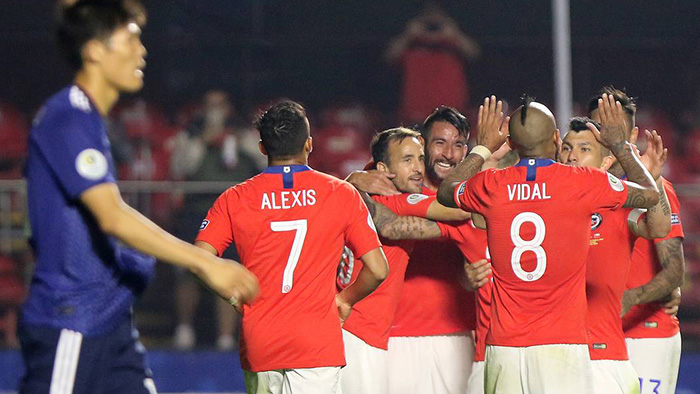 Chile goleó a Japón y tuvo un debut soñado en la Copa América 2019