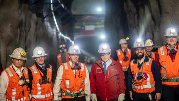 Hito histórico: Piñera inaugura Chuquicamata Subterránea tras 104 años operando a rajo abierto