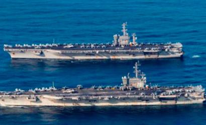 Estados Unidos envió dos portaaviones nucleares al mar del sur de China