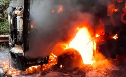 Tres máquinas resultaron quemadas en presunto ataque ocurrido el domingo en Nueva Imperial