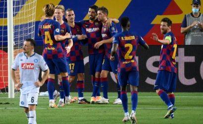Con un golazo de Messi, el Barcelona venció al Napoli y se clasificó a los cuartos de la Champions
