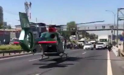 Dos motoristas de Carabineros fueron atropellados por sujeto que conducía vehículo robado