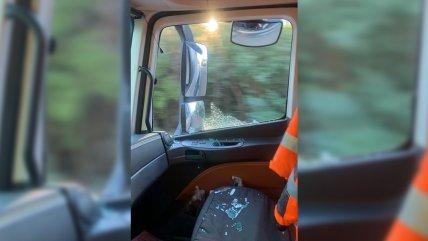 Gremio camionero denuncia baleo a conductor en el límite entre Biobío y La Araucanía