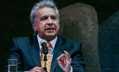 """Lenín Moreno: """"Ecuador detectó una injerencia política y económica del régimen de Maduro en las protestas en Colombia"""