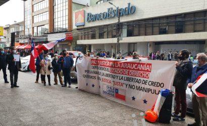 Protestas solicitando paz y seguridad en la Araucanía
