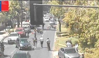 Registran balacera en Providencia: Hay dos carabineros heridos