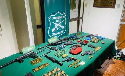 Detienen a funcionario del Poder Judicial de La Araucanía en medio de procedimiento antidroga: se le incautó fusiles y se indaga su supuesto vínculo con ataques en la zona