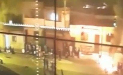 Dos carabineros resultaron con quemaduras en sus rostros tras ataque con bombas molotov en Antofagasta