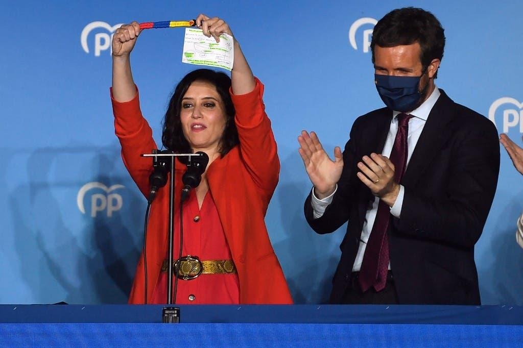 La derecha arrasa en elecciones regionales de Madrid