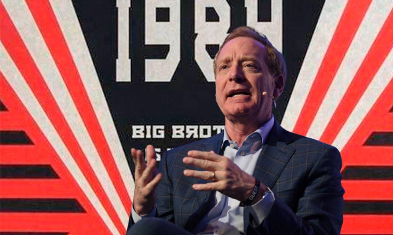 El presidente de Microsoft alerta: «cuidado, o la vida en 2024 será como en 1984 de George Orwell»